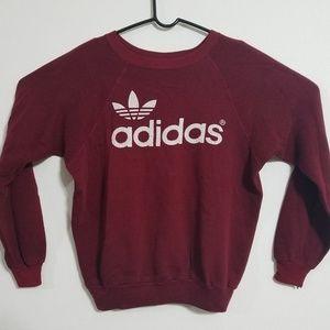 2/$60 VTG Adidas Trefoil Women's M Crimson Sweater